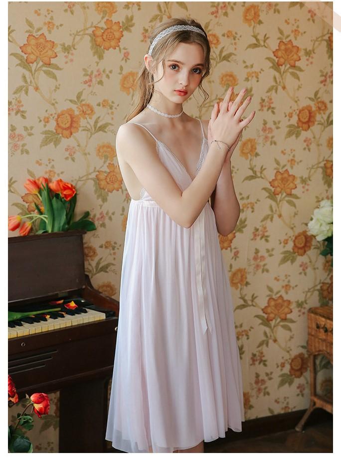 Váy ngủ tiểu thư dễ thương nhẹ nhàng 5