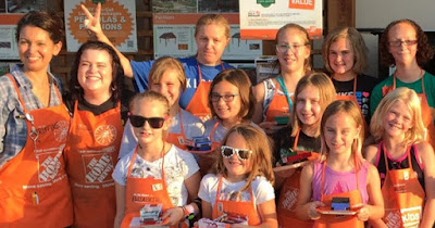 Girl Scouts participating in Home Depot program