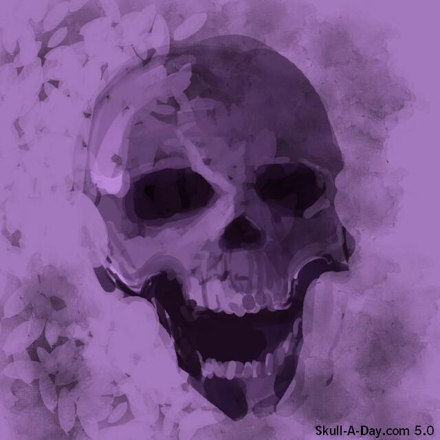 It S Day Eight Of Jurassicjune Today I Ve Illustrated: Illustrated Skull