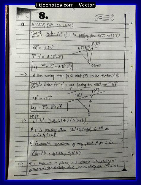 vector notes physics8