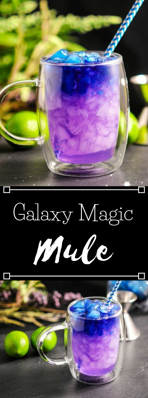 THE GALAXY MAGIC MULE #galaxydrink #party #blue #magic #sangria