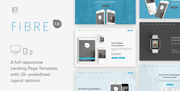 Download Fibre App Responsive Landing Page Template