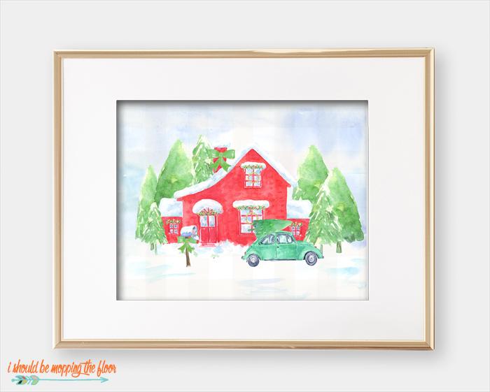Christmas Cottage Printable