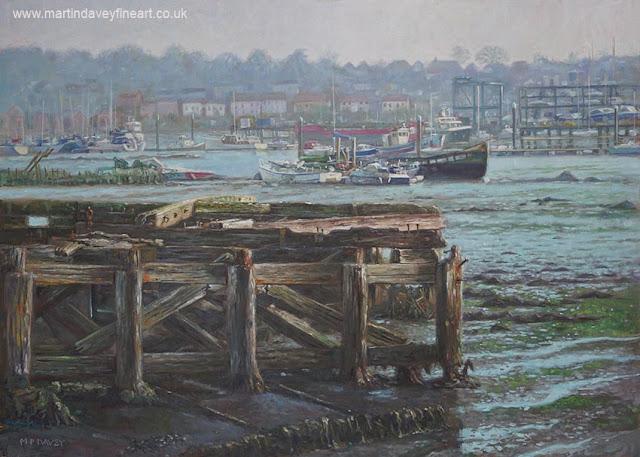 Northam southampton marine artist Martin Davey