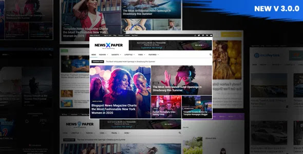 NewsPaper X Pro Blogger Template