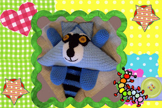 ranger the raccoon crochet amigurumi pattern