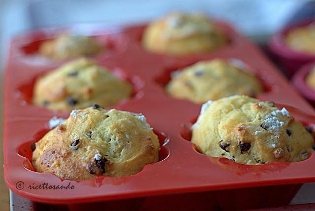 Muffins  di ricotta e cioccolato e kefir