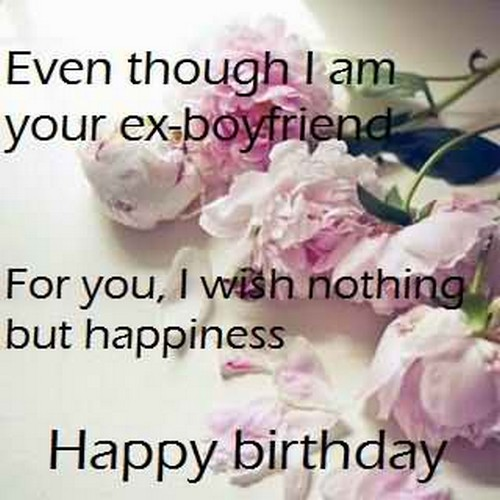 Birthday Wishes for Ex-Girlfriend who loves one
