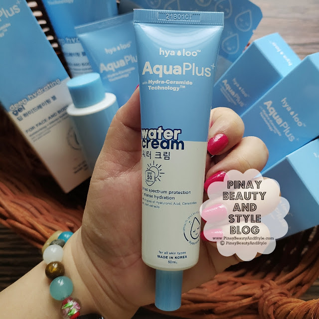 Hyaloo Aqua Plus Water Cream Review Price SPF 50