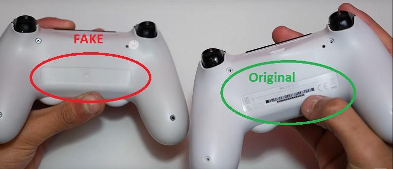 gambar yang membedakan Joystick DS4 Asli atau Palsu
