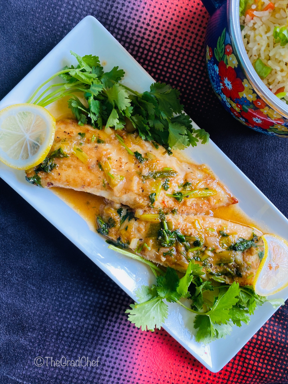 SWEET CHILI AND CILANTRO FISH