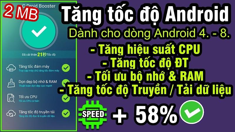 C Droid Booster - Tăng tốc điện thoại Android