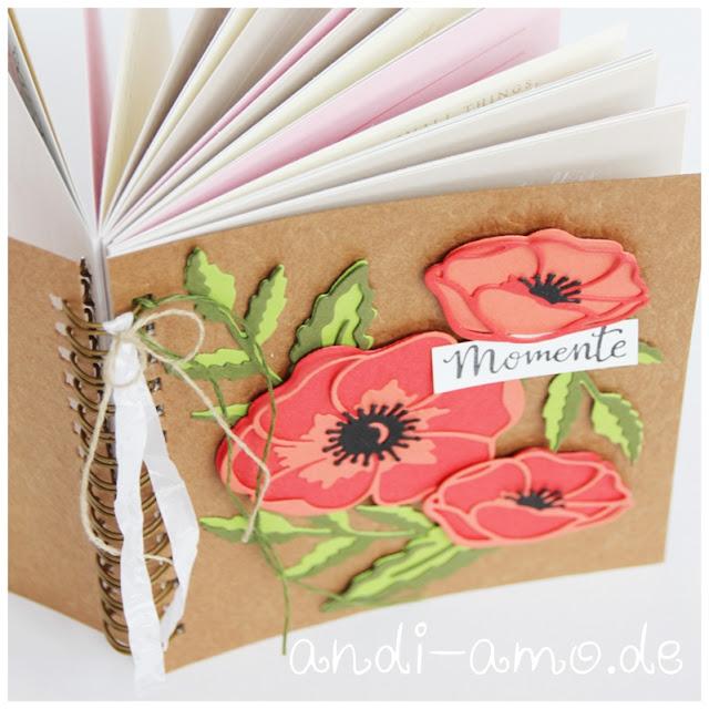 Notizbuch Blüten der Erinnerung Stampin Up Mohnblüten