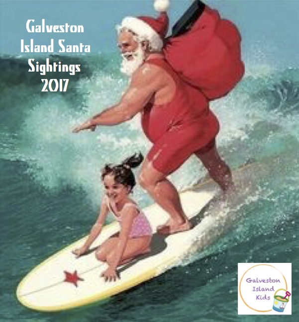 Galveston Island Kids Galveston Island 2017 Santa Sightings