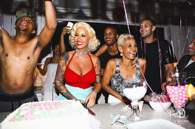 Image result for Val Chmerkovskiy on Amber Rose at her birthday