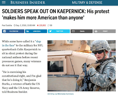 http://www.businessinsider.com/veterans-colin-kaepernick-2016-9/#colin-sat-down-and-exercised-his-right-to-protest-which-is-something-that-i-feel-like-we-all-swore-an-oath-to-defend-said-tom-baker-a-navy-veteran-who-served-in-the-iraq-war-1