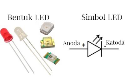 bentuk dan simbol dari LED (Light Emitting Diode)