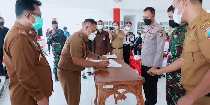 Kerjasama Daerah Pada Pengamanan Pilkades Serentak Tahun 2021 Ditandatangani