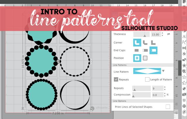 silhouette 101, silhouette america blog, line patterns tool, line patterns, silhouette studio
