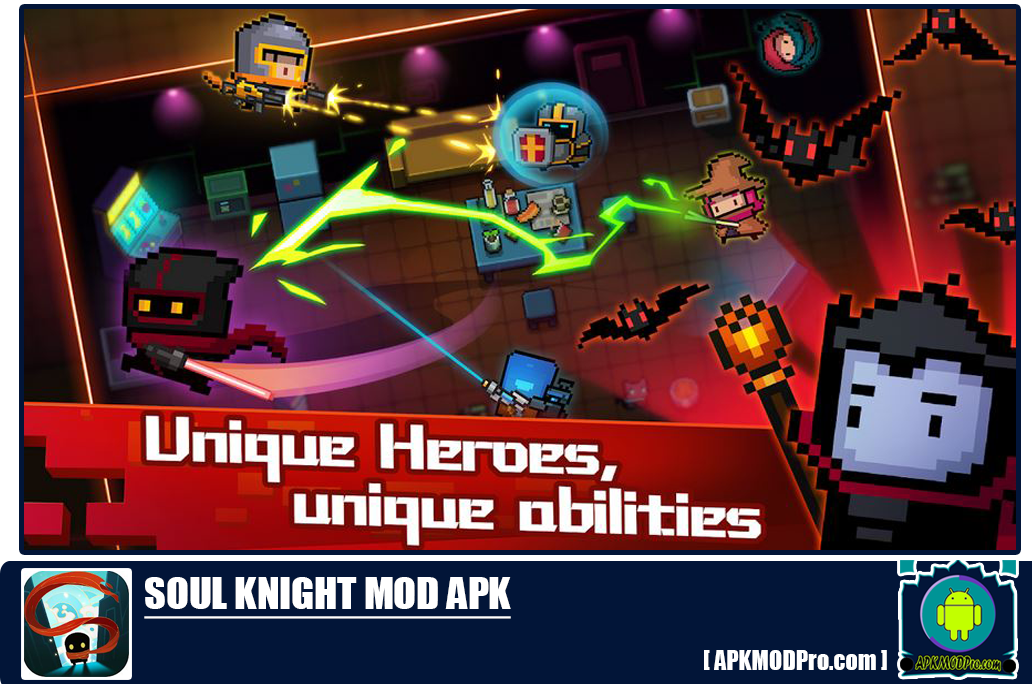 Download Soul Knight MOD APK 2.5.1 [Unlimited Money/Gems, Fulll Characters]