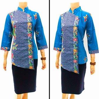 Contoh Model Seragam Batik Kombinasi