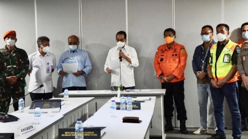 Kemenhub dan Stakeholder Sampaikan Kronologis Pesawat Sriwijaya yang Lost Contact