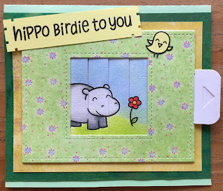 Hippo Bird birthday card