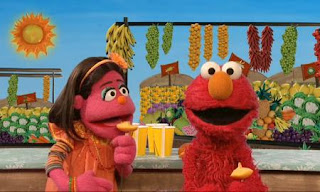 Elmo and Pilar have a question. What else are popsicles made from? Sesame Street C is for Cooking.