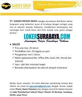 Bursa Kerja Surabaya di PT. Sukses Mekar Abadi Juli 2020