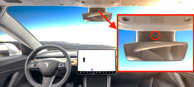 kamera kabin Tesla