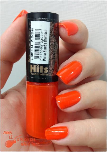 Perna Bamba Hits Gio Antonelli Esmalte Nailpolish Laranja Orange