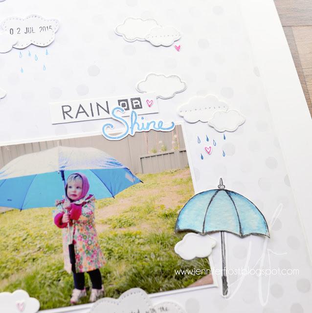 Weather Together, Umbrella Framelits Dies, Sunburst Sayings, Labeller Alphabet, Scrapbooking, Stampin' Up!, Fancy Friday, Papercraft by Jennifer Frost