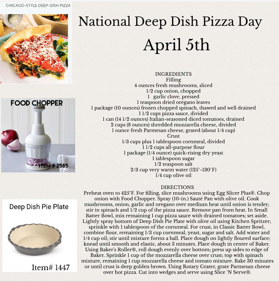 National Deep Dish Pizza Day Wishes Lovely Pics