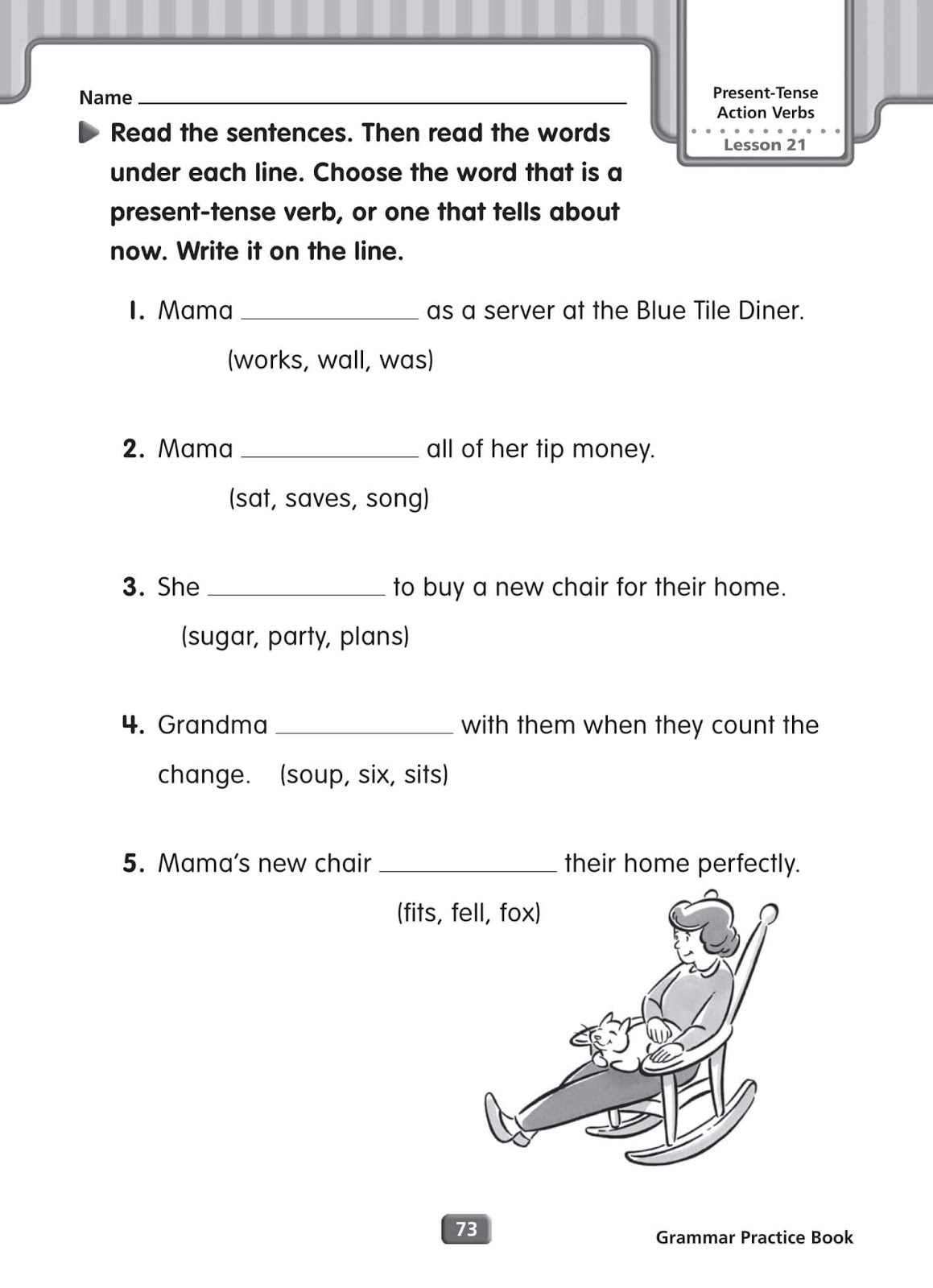 Grammar Worksheets Simple Present Tense