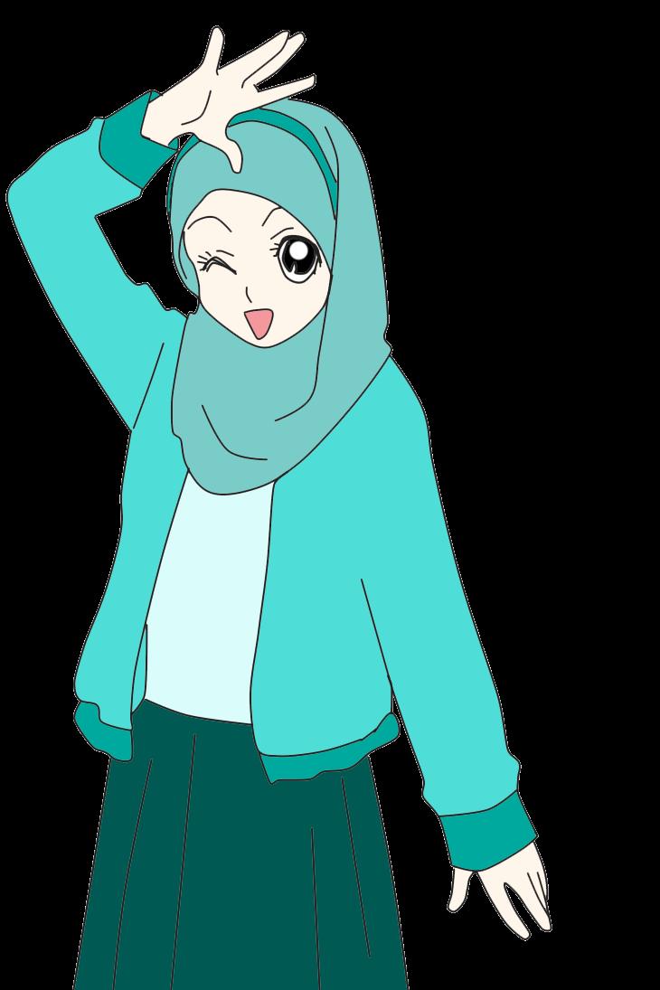 Nabila Medan Freebies  Doodle Muslimah