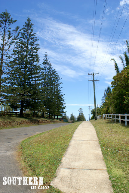Walking around Norfolk Island