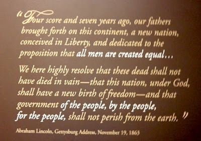 Abraham Lincoln Gettysburg Address in Pennsylvania