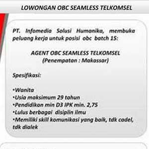 Lowongan Kerja OBC Seamless Telkomsel