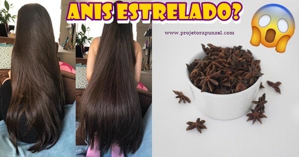 tônico caseiro de anis estrelado para o cabelo crescer rápido