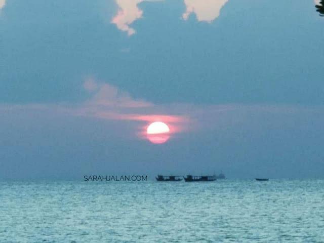 sunset  Pantai Vio Vio Cantik Barelang Batam