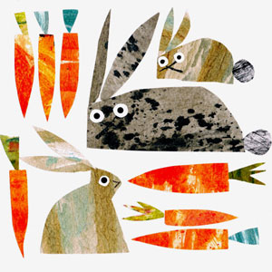 Jane Ormes - Rabbit Freaking out art print on Etsy