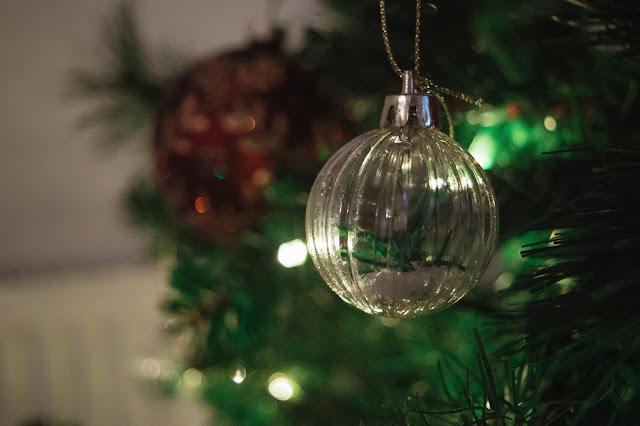 Bauble decoration close up