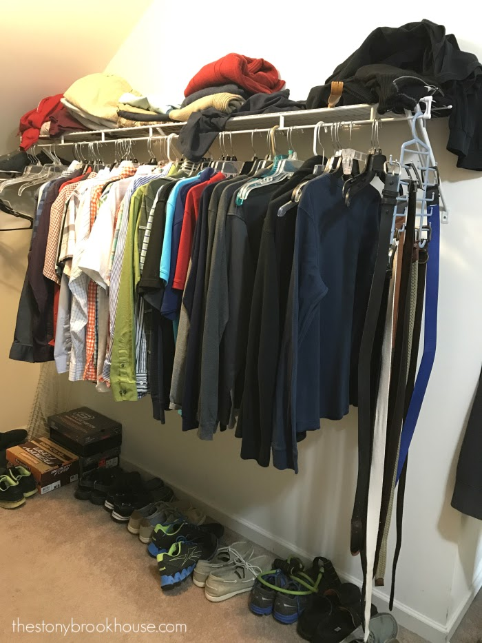 Hubby's closet left side