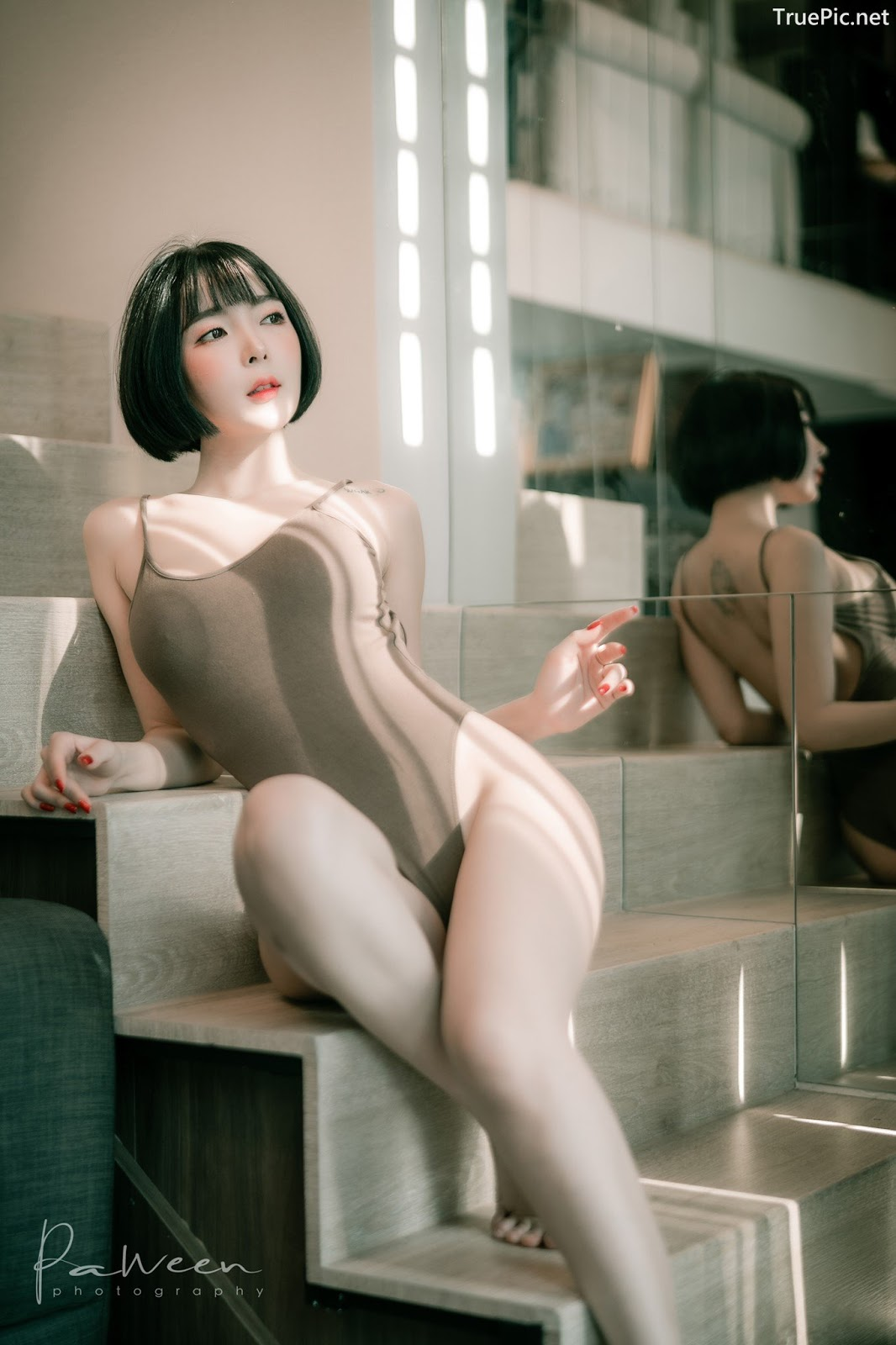 Image Thailand Model - Preeyapon Yangsanpoo - One Piece Swimsuit In House - TruePic.net - Picture-8