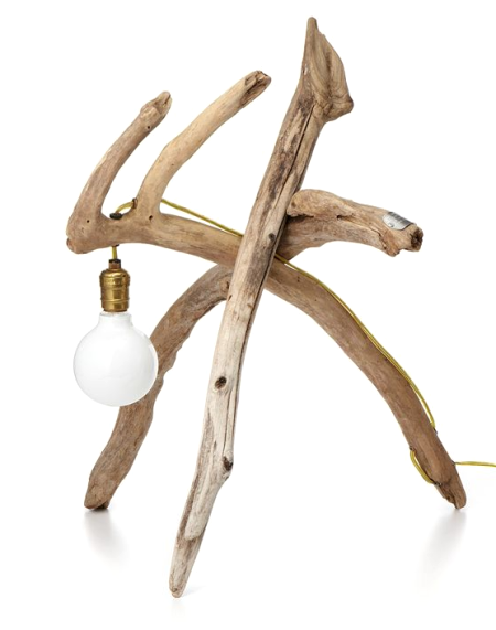 funky driftwood lamp
