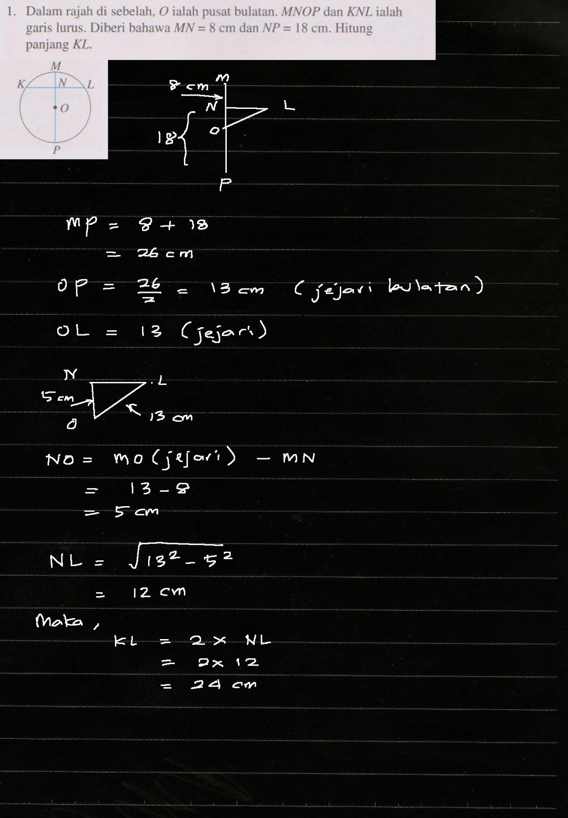 Cikgu Azman Bukit Jalil Jom Cuba 5 2 Ms 85 Matematik Tingkatan 2 Bab 5 Bulatan Kssm