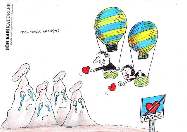 göreme vadisi karikatür
