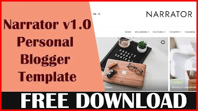Download Narrator v1.0 - Responsive Personal Blogger Template