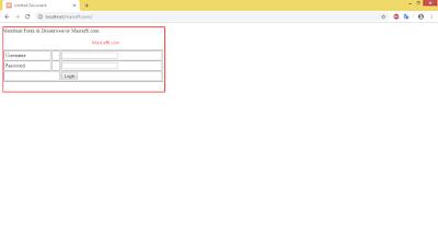 Cara membuat form biodata di Dreamweaver
