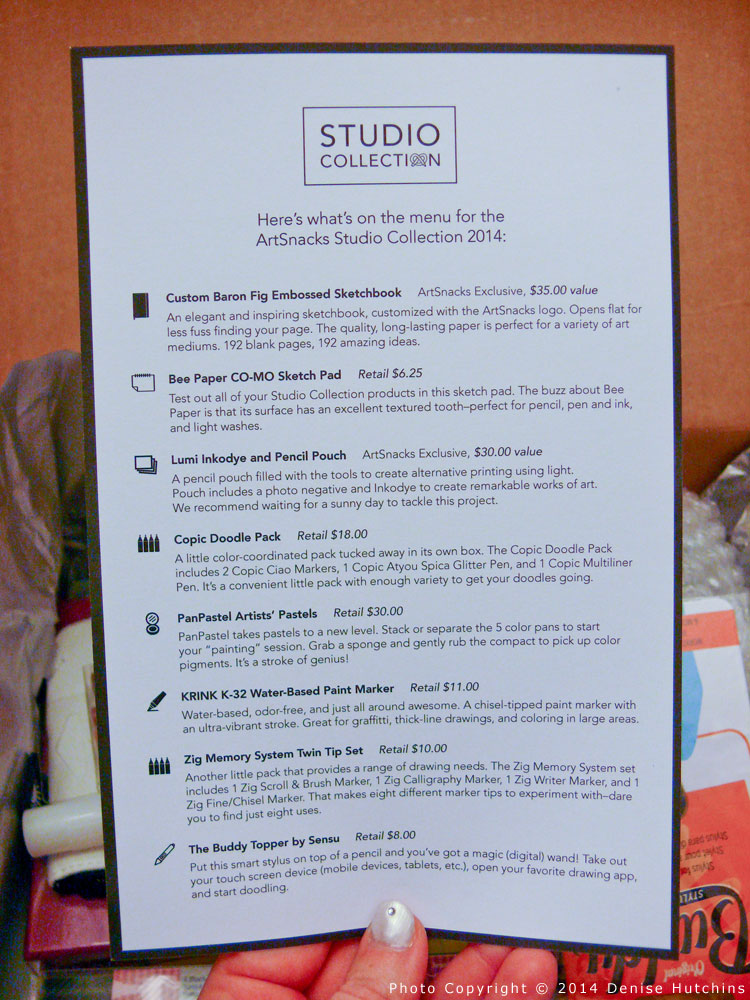 Studio Collection Menu (Contents List)